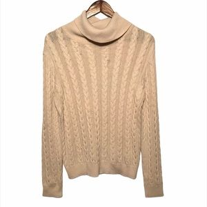Women's H&M Cream Cable Knit Sweater
